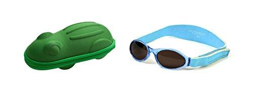Babybanz 0 bis 2 Monate Sonnenbrille, Aqua und ein Yoccoes Sonnenbrille Fall - Grüner Frosch