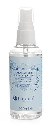 Deluxe Magnesiumöl Kraftspender (100ml), natürliches Magnesium Öl in praktischer Sprühflasche -