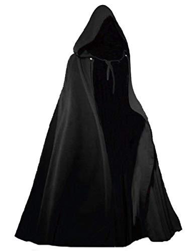 Kostüm Satanist - YIDAINLINE Halloween Kostüm Todesumhang Schwarzer Dark Dreams Gothic Mittelalter Todesumhang Teufelsumhang Schwarzer Kapuzenumhang Unisex