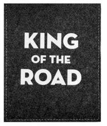"""Preisvergleich Produktbild Weihnachtsgeschenk, Nikolausgeschenk,Geburtstagsgeschenk, Hochzeitsgeschenk, Führerschein, Parkscheibe """"King of the Road"""" mit Benzinrechner - in edler Filzhülle als Geschenkidee"""