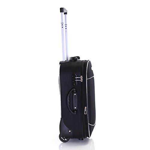 Slimbridge Rennes 55 cm erweiterbar Koffer mit 3 Jahren Garantie, Schwarz Schwarz