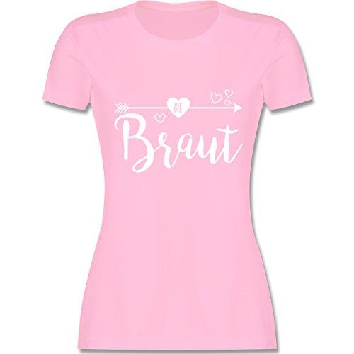 bschied - Die Braut - S - Rosa - L191 - Damen Tshirt und Frauen T-Shirt ()