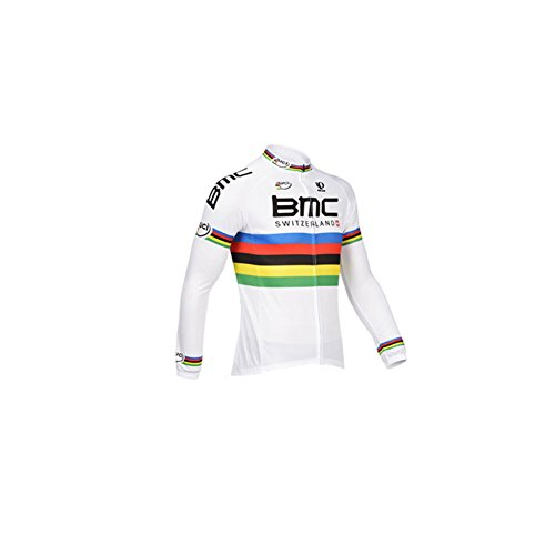 Strgao 2016 Herren Winter Radtrikot Pro Team BMC MTB Thermal Langarm Radjacke Radfahren Oberteil (Pro Thermal Tight)