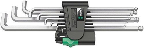 Preisvergleich Produktbild Wera 950 PKL/9 SM N Winkelschlüsselsatz, metrisch, gestellverchromt, 9-teilig, 05022087001