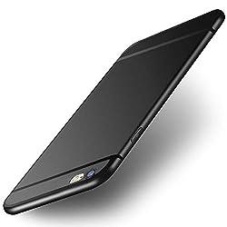 UBEGOOD handyhülle kompatibel mit iPhone 6/iPhone 6S, VaiPhone6sRB1 Ultra Dünn Soft Silikon Schutzhülle iPhone 6S Bumper Case Kratzfeste Anti Rutsch Hülle für iPhone 6S Case Cover- Schwarz