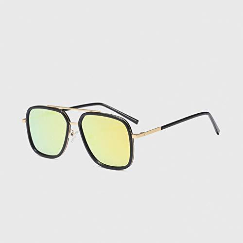 SYQA Sonnenbrille Polarisierte Sonnenbrille männer Platz Fahren Beschichtung schwarzer Rahmen fischen Fahren Brillen männlich Sonnenbrille,C4