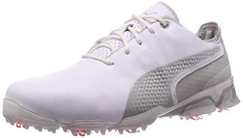 PUMA Ignite PROADAPT, Zapatos de Golf para Hombre, White-Gray Violet, 45 EU