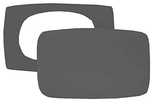 Preisvergleich Produktbild Home Edition 2er Pack Spannbezug für Nackenstützkissen Baumwolljersey (mit Elasthan) 36x50 bis 36x60 cm (Anthrazit)
