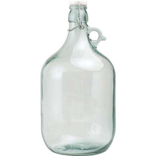 Glasballons mit Bügelverschluss - Füllmenge: 5 Liter - 4 Stück