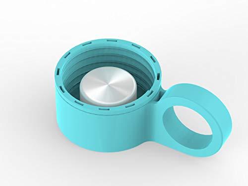 purifyou Ersatz Gap für 12/22/32oz Premium Glas Wasser Flasche mit Silikon Sleeve, Aqua Blue - Aqua-wasser-flasche