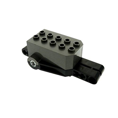 1x Lego Technik Rückzieh Motor grau schwarz Aufziehmotor Motorrad 32283 pull back A69 (Motor Back Pull Lego)