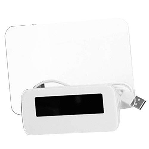 non-brand Baoblaze LED Wecker Digital Wecker Tischuhr Datum/Temperatur Anzeige mit Fluorescent Message Board - Weiß + Grün 1 (Non-digital-wecker)