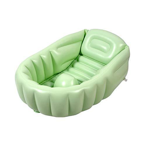 WFyoupool Neugeborenes Baby Aufblasbare Badewanne Babywanne Sitzen Liegen Kinder Reise Tragbare Klappbecken (68x47x29 cm) Interessantes Sommerspielzeug (Color : Green) -