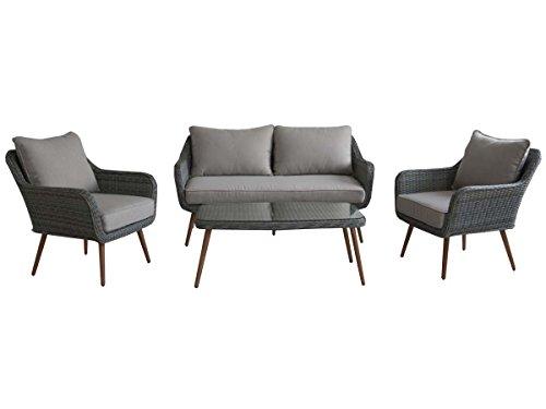 Habitat et jardin - Salon de jardin en résine tressée Olbia - 1 canapé + 2 fauteuils + 1 table basse