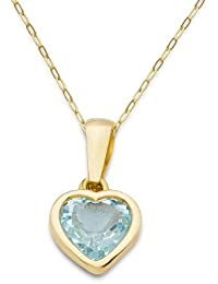 Miore - MA9022N - Collier Femme - Or jaune 375/1000 (9 carats) 1.35 gr - Topaze bleue