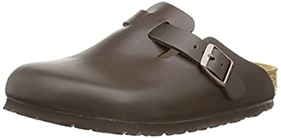 Birkenstock Boston, Unisex Adults' Clogs, Dark Brown Leather, 2.5 UK (35 EU)