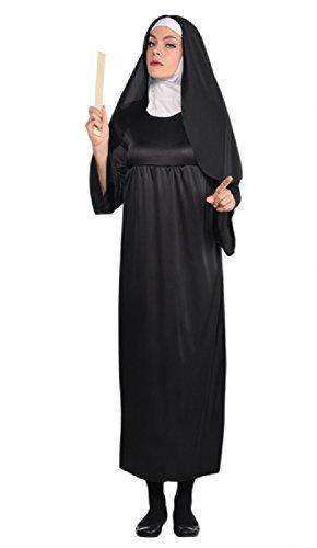 Damen lang Länge Schwester Nonne religiös traditionell Katholische Uniform Tarts und Pfarrer Kostüm Kleid Outfit