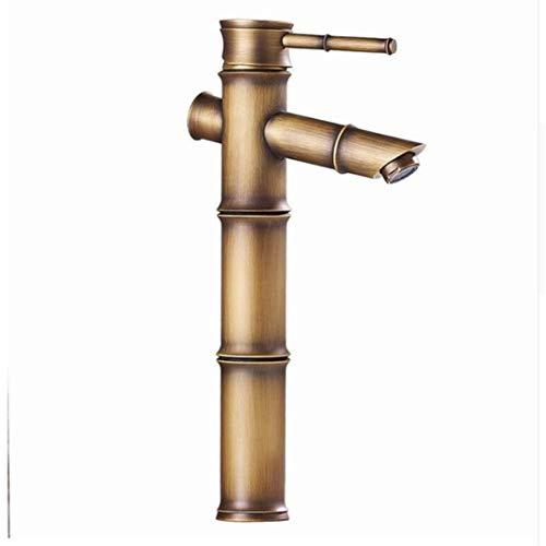 Rubinetto bacino rubinetto rubinetto del bacino dell'oggetto d'antiquariato di stile europeo tutto il bacino di acqua misto caldo e freddo di rame rubinetto caldo e freddo del rubinetto del bambù
