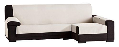 Chaise (Eysa Bianca nicht elastisch sofa überwurf chaise longue 240 cm rechts, frontalsicht, Baumwolle, 00-ecru, 37 x 9 x 29 cm, 1 Einheiten)