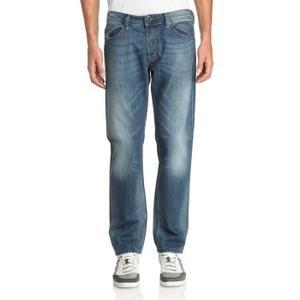 Diesel Waykee 0814E 814E Herren Jeans Hose Regular Straight Blau Mittelblau (W28/L32)