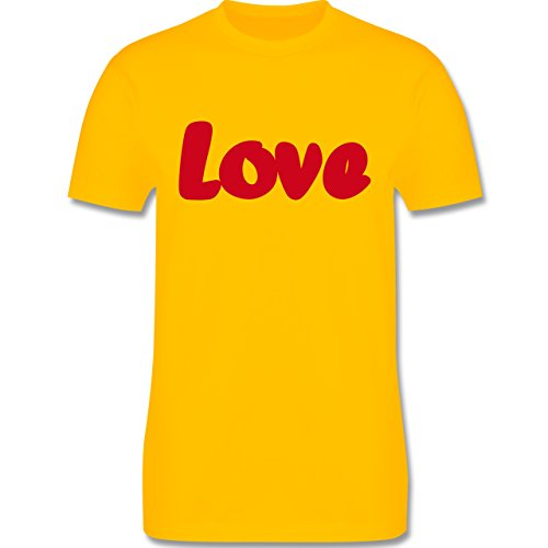 Romantisch - Love - Herren Premium T-Shirt Gelb