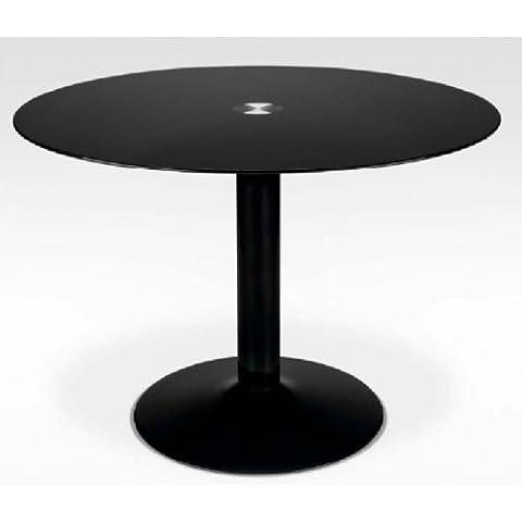 Suarez - Mesa redonda, medidas 76 x 105 x 105 cm, color blanco