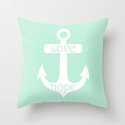 Neuhe Liebe Hope Anchor Mint Green Kissenhülle / Kissenbezug Kissen,