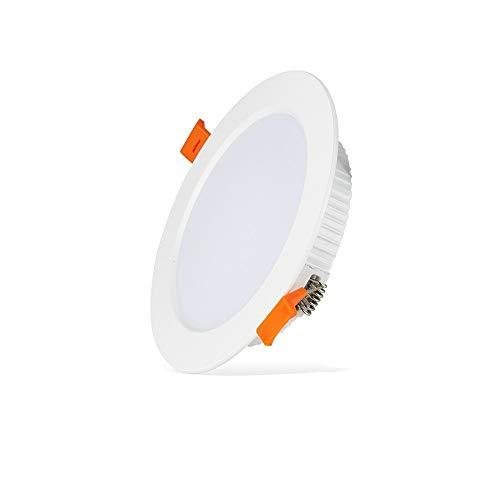 Mumnk Ultra delgado LED Iluminación empotrada Techo Downlight Redondo de aluminio Integrado...