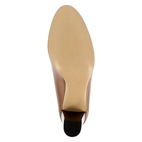 Evita Shoes Bianca, Scarpe col tacco donna cognac