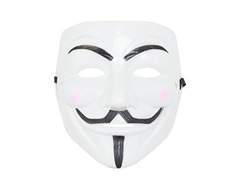 Kostüm Damen Für Vendetta V - shenky Masken für Fasching Karneval Halloween Anonymous Vendetta (Vendetta Weiß)