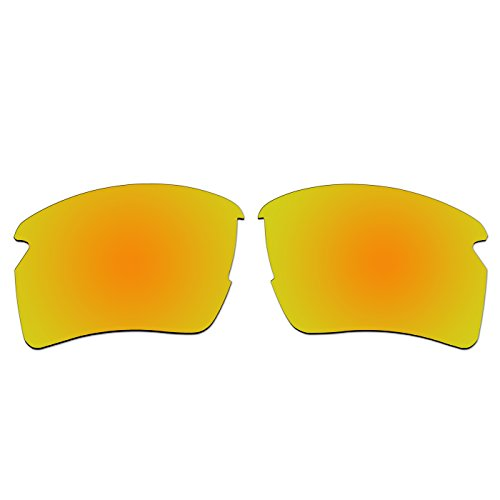 aCompatible Ersatz-Objektive für Oakley Flak 2.0XL Sonnenbrille oo9188(Nicht Fit Flak 2.0), Gold - Polarized