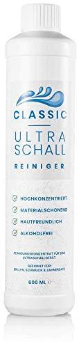 Ultraschallreiniger Konzentrat 600ml – Reinigungskonzentrat für jedes Ultraschallreinigungsgerät, Ultraschallbad – Ultraschall Reiniger für Brillen und Schmuck (600 ml Classic)
