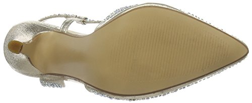 Spot On - F9812, Scarpe col tacco Donna Oro (Oro (Gold))