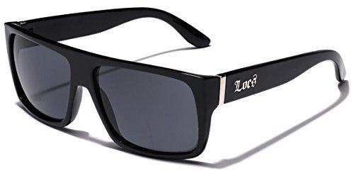 Locs Super Flat Oben Original Gangsta Shades Hardcore Sonnenbrille - 1 52 Schwarz eine Größe passt meistens Schwarz