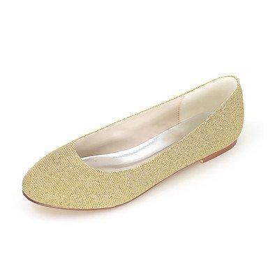 Wuyulunbi@ Scarpe donna Glitter frizzante primavera estate Ballerina Flats tacco piatto punta tonda per vestire Party & Sera marrone nero argento rosso blu US5 / EU35 / UK3 / CN34