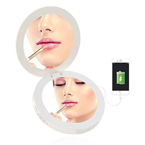 Saiweina powerbank High Intelligenz Kleiner Spiegel Multifunktions Make-up Spiegel LED Lade Schatz mit Licht Spiegel