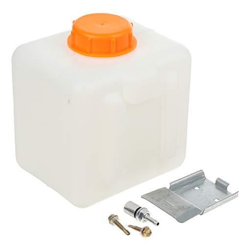 KUNSE Parcheggio Heater Serbatoio Auto 2.5L capacità Bianco Plastica Parcheggio Riscaldatore Serbatoio Carburante per Webasto Eberspacher Riscaldato