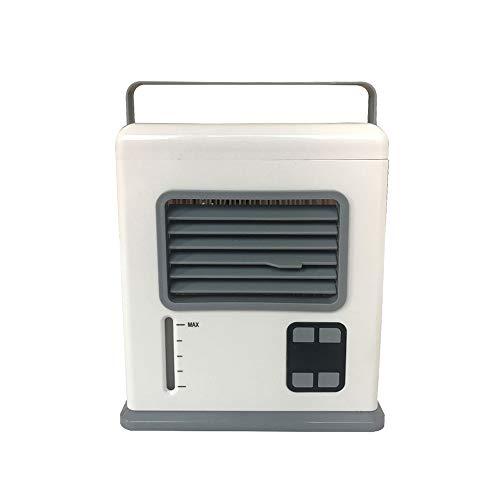 Decdeal Aircooler Mobile Klimagerät Digitalanzeige Mini Luftkühler USB/Batteriebetrieben Leises Luftkühlgebläse zum Schlafen im Büro