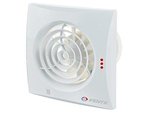 Preisvergleich Produktbild Innovativer geräuscharme und energiesparende Lüfter / Ventilator / ORIGINAL Vents 150 QUIET TIMER HYDRO Nachlauf Verzögerungsschalter / Feuchtigkeitsteuerung (Hydrostat) / sehr leise / 150 mm / Kugellager / Rückschlagfolie (Ventil)