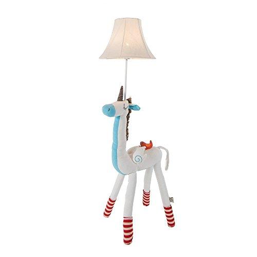 Standleuchten Cute Animal Baumwolle Stehlampe für Kinder, Giraffe/Einhorn/Alpaka/Well Kleid Hirsch mit Tasche LED Schreibtischlampe Baumwolle dekorative Tischlampe für Zimmer