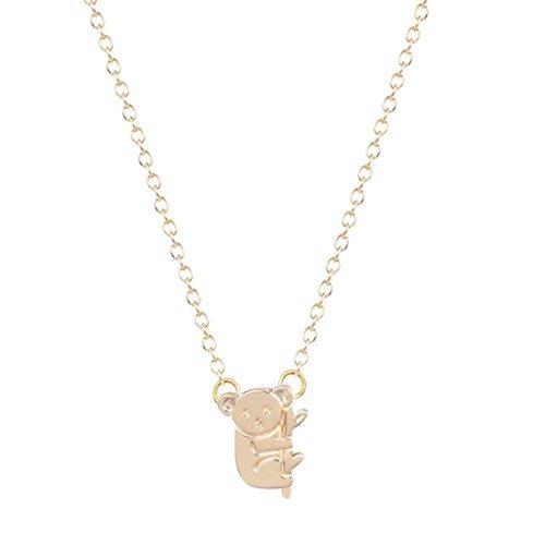 Plata o Dorado Koala Collar, diminuto collar animal, Animal Koala, Funny collar