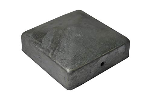 1 X Pyramide Pfostenkappe 11X11 cm verzinkt 111X111 mm Kappe Pfostenabdeckung Abdeckung Pfosten Pfostenschutz Pyramidenabdeckung 11,1 X 11,1cm / 110 X 110 mm