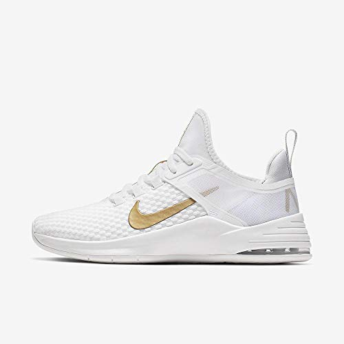 Nike Damen WMNS Air Max Bella Tr 2 Fitnessschuhe, Mehrfarbig (White/Metallic Gold/Pure Platinum 000), 40 EU (Air Max Nike Frauen)