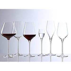 Stölzle Lausitz Bordeauxglas Quatrophil 644ml, 6er Set Weingläser, wie mundgeblasen, spülmaschinenfest, hochwertige Qualität