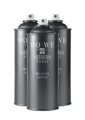 3x400ml Silikonspray Silikon Spray Silicon Kunststoffpflege Kunststoff Pflege Silikonöl Trennmittel Öl mit Spraydosengriff