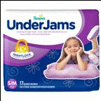Pampers Underjams Diapers For Girls Size 7 17 CT (Pack of 4)