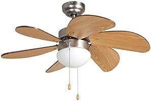 Orbegozo CP – Ventilador de techo con luz, 6 palas, 80 cm de diámetro, potencia de 50 W y 3 velocidades