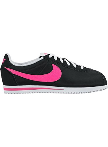 Nike Cortez Nylon (Gs), Chaussures de Running Fille Noir