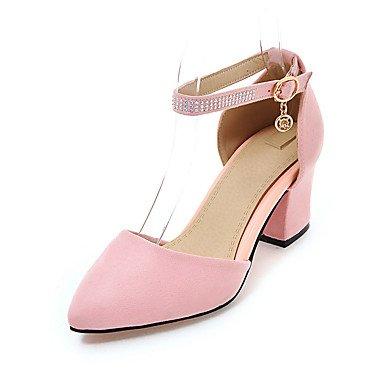 CH&TOU Da donna-Sandali-Ufficio e lavoro Formale Casual-Altro-Quadrato-Felpato-Nero Blu Rosa Beige Pink