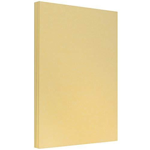 JAM PAPER Papel Pergamino - 215,9 x 355,6 mm - 90gsm - Oro Antiguo Reciclado - 100 Hojas/Paquete